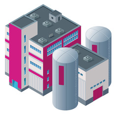 Isometric vector of a meat plant for games