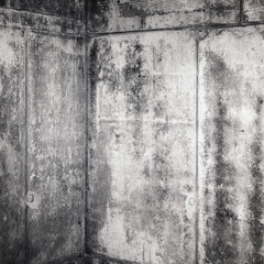 Abstract grungy gray concrete interior fragment