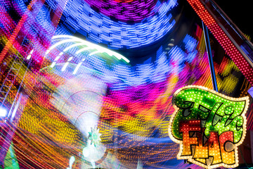 Drawings of lights on a fairground