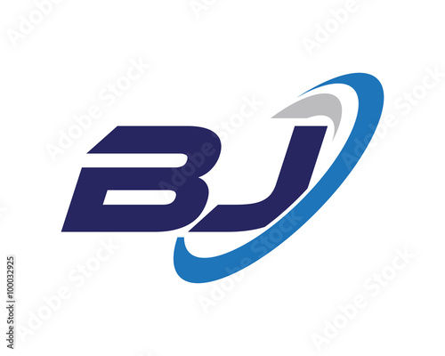 bj letter swoosh business logo stock image and royalty free vector rh eu fotolia com bj logistics bj login credit card