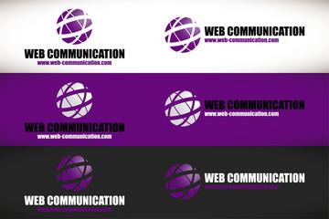 logo web communication violet