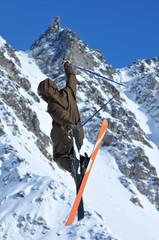 tail grab on skis