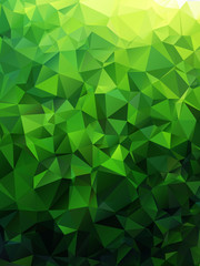 Green abstract geometric rumpled triangular low poly style vector illustration graphic background