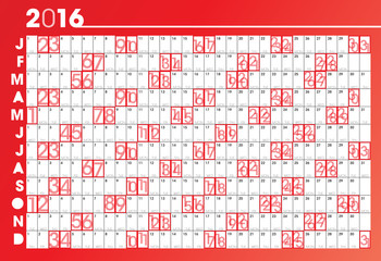 red 2016 planner