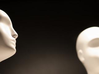White Mannequin Heads