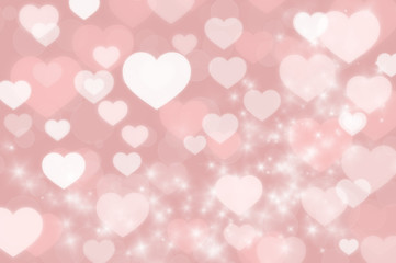 Hearts background for Valentine's day