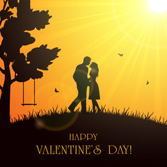 Valentines background with couple