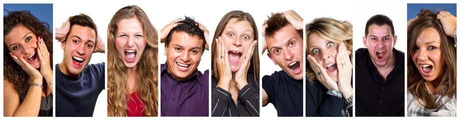 persone che urlana collage