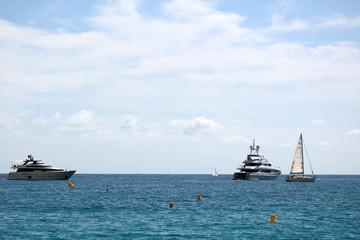 Yachts and sailing boat
