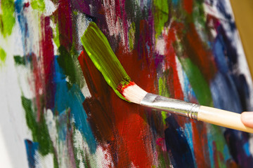Malen mit Acrylfarben, painting with acrylic colors