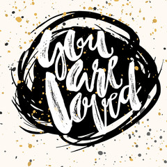 You are loved-romantic love confession hand lettering motivation