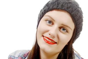 fashion portrait of pretty hipster girl
