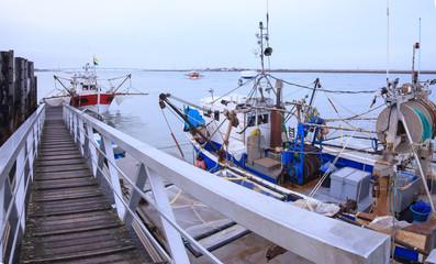 Bateau à quai sur l'estuaire de la Seudre