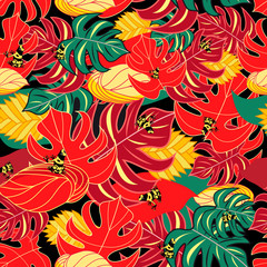 Exotic pattern and jungle frogs