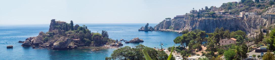 Panoramic view of Beautiful island, Taormina, Sicily Fototapete