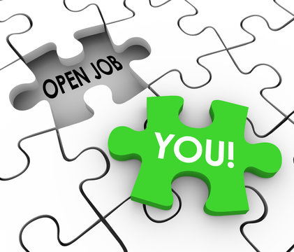 Open Job Position You Word Fill Puzzle Hole