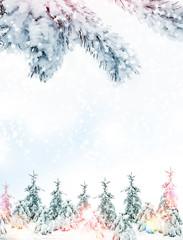Winter landscape. Background. snow
