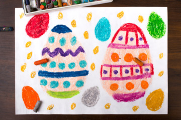 Colorful drawing: Easter eggs