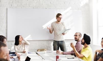 Seminar Speaker Listening Training Meeting Concept