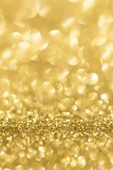 Gold glitter bokeh abstract light background