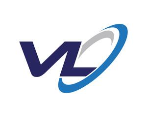 VL Letter Swoosh Label Logo