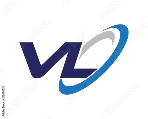 Vl Letter Swoosh Label Logo Stock Image And Royalty Free Vector
