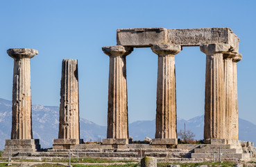 Marble Columns of the Ancient Religious Temple