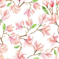 watercolor magnolia branches