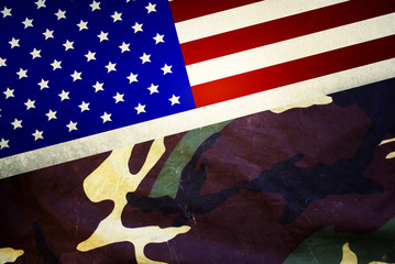 USA flag military camouflage, close up view, over and very high quality background