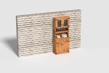 Three-dimensional sideboard