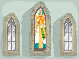 Windows Lancet Stained Glass