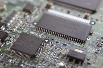 chip on motherboard with controllers.