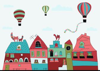 Little town street.