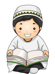 Kid Boy Muslim Read