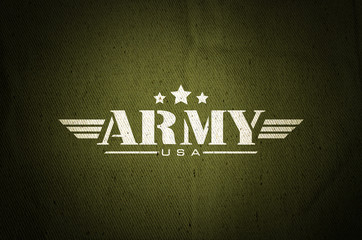 Military army star silk old fabric texture background