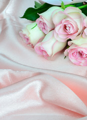 Horizontal pink composition