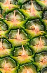 Peel pineapple closeup
