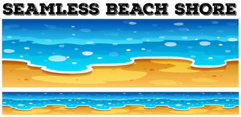 Seamless beach shore at daytime