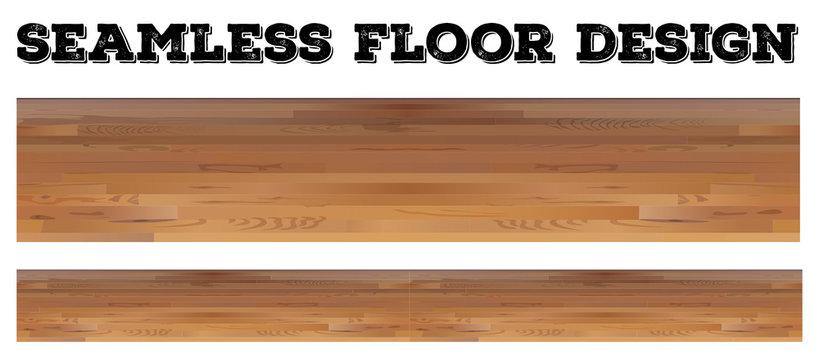 Seamless wooden floor design