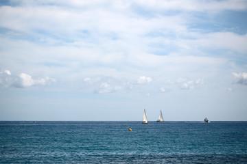 Beautiful seascape and sea vessels