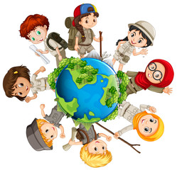 Children caring for the earth