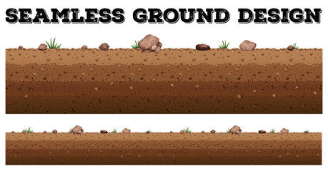 Seamless ground surface design