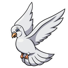 Flying white dove 2