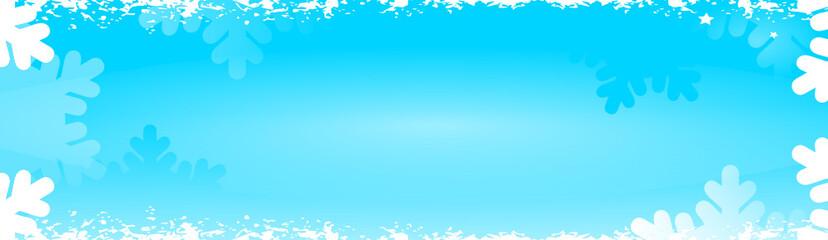 bannière froid surgelé flocon bleue