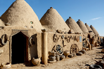 Beehive houses in south-east of Anatolia,Turkey