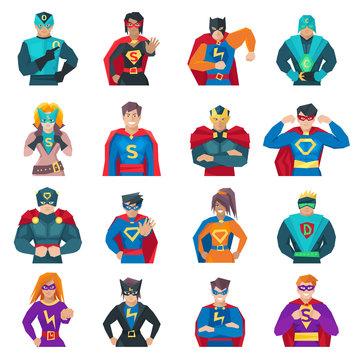 Superhero Icons Set