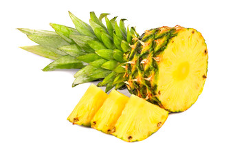 Slices of fruit pineapple
