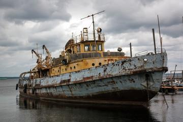 old rusty ship