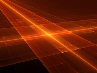 Glowing orange futuristic surface