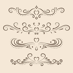 Vector dividers page decor elements